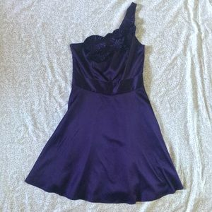 The Limited One Shoulder Plum Purple Dress